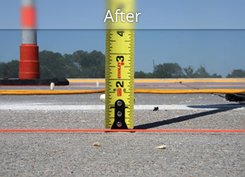 After leveling Plainview roadway with PolyLevel®