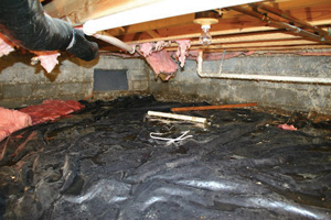 Crawl Space Repair Before in Amarillo