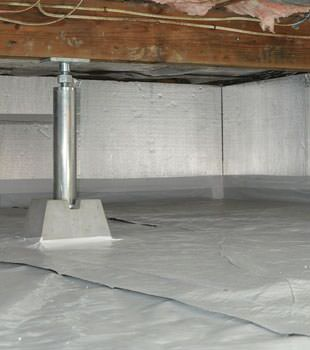 Installed crawl space insulation in Happy