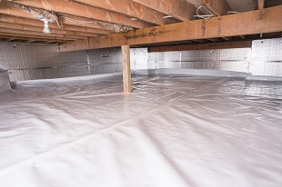 crawl space vapor barrier in Plainview installed by our contractors