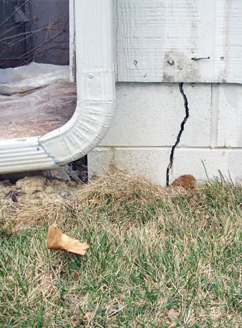 foundation wall cracks due to street creep in Clarendon