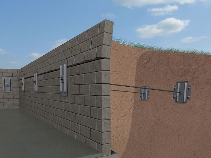 A Graphic Ilration Of Foundation Wall System Installed In Clarendon