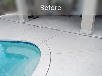 Concrete around pool raised with PolyLevel®