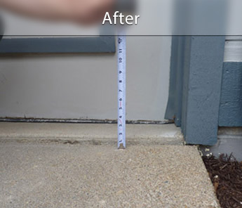 Amarillo concrete walkway repair & leveling
