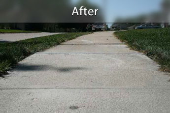 Fixing sunken concrete with PolyLevel® in Amarillo