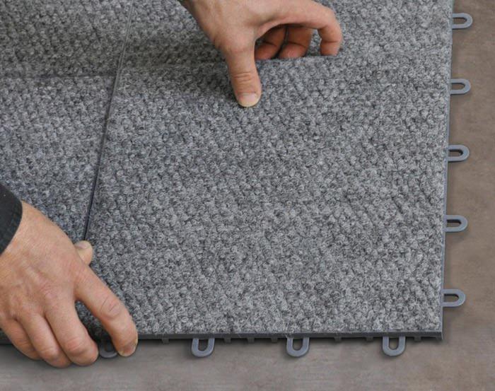 Interlocking Carpeted Floor Tiles Available In Dumas Texas