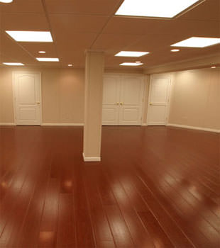 Rosewood faux wood basement flooring for finished basements in Amarillo
